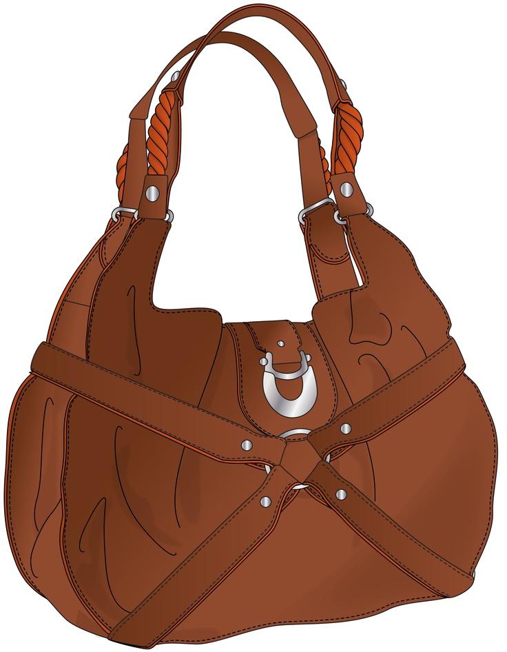 Bag clipart leather bag.  best handbag images