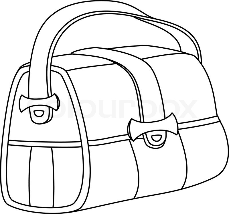 Line drawing at getdrawings. Bag clipart leather bag