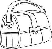 Bag clipart leather bag. Contours panda free images