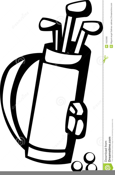Bag clipart line art. Golf free images at