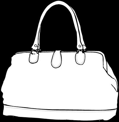 Bag clipart line art. Drawing at getdrawings com