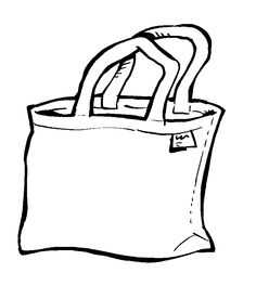 Clip black tote . Bag clipart line art