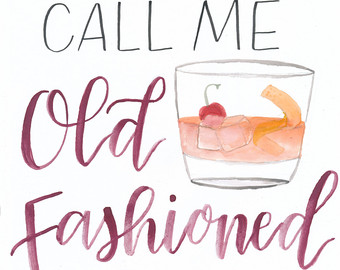 Call me fashioned print. Bag clipart old school