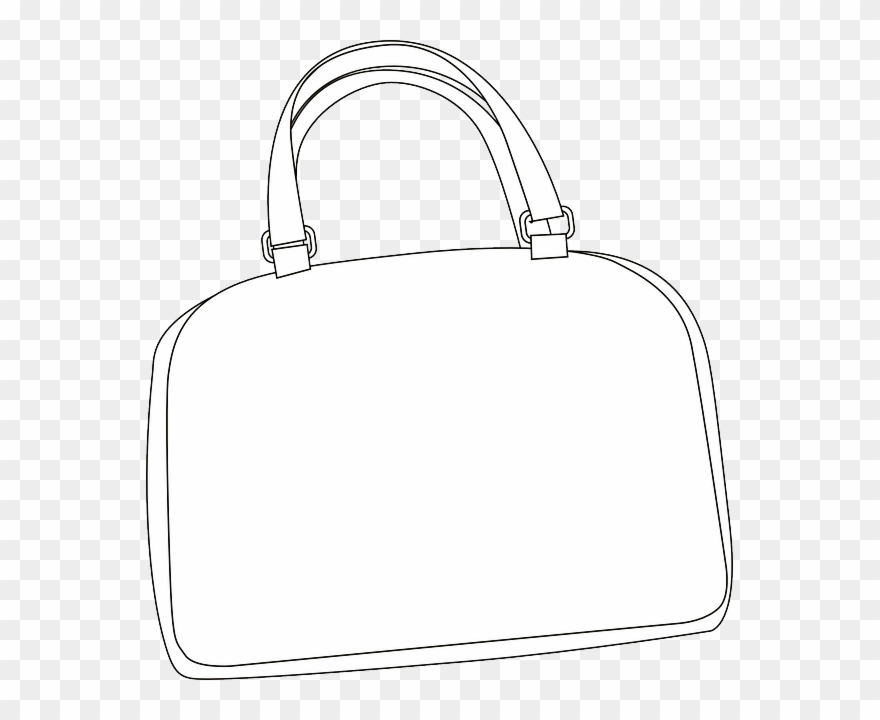 Bag clipart outline. Download hd purse handbag