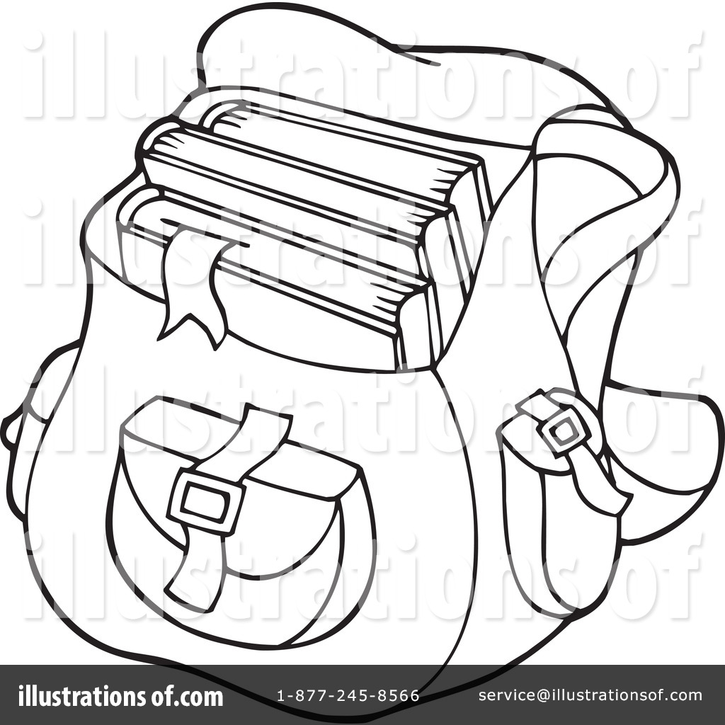 Drawing at getdrawings com. Bag clipart outline school