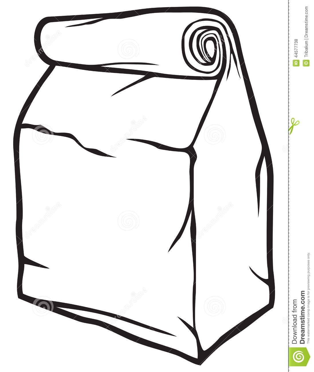 Bag clipart paper bag. Black and white letters