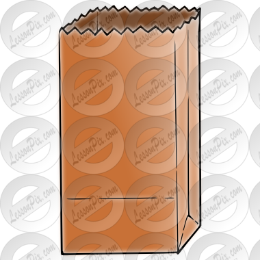 Picture for classroom therapy. Bag clipart paper bag