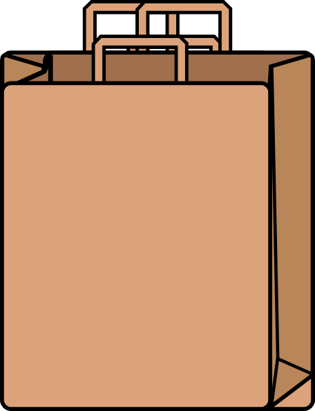 Bag clipart paper bag. Brown clip art z