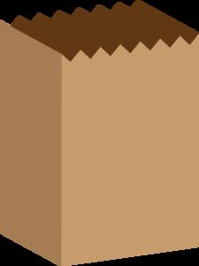 Bag clipart paper bag. Brown clip art at