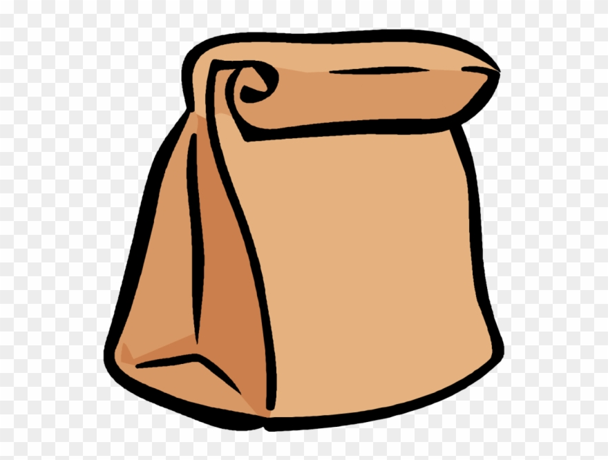 Pack lunch brown clip. Bag clipart paper bag