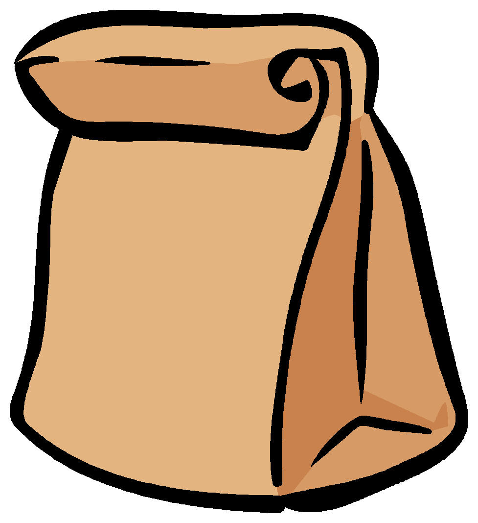 clipartlook. Lunchbox clipart paper bag