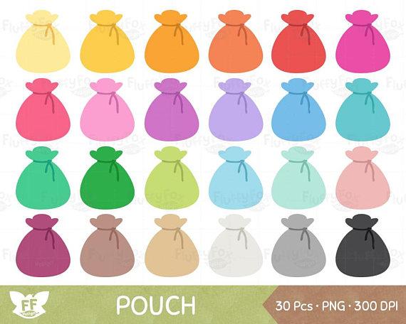 Bag clipart satchel. Pouch coin clip art