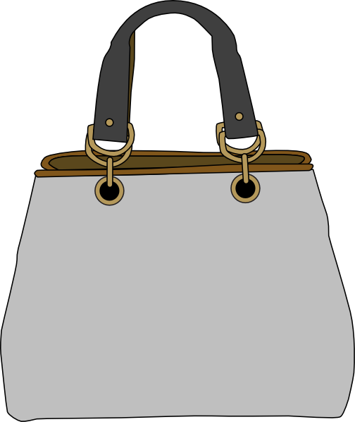 Bag clipart shoulder bag. Gray clip art at