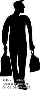 Bag clipart silhouette. Image of figure a