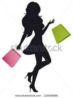 Dress silhouettes model in. Bag clipart silhouette