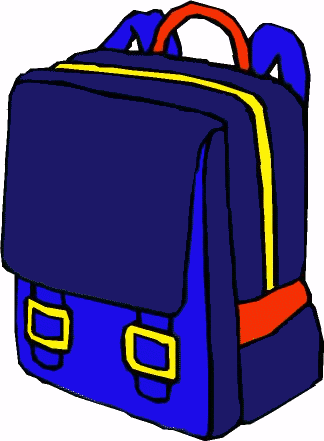 Bag clipart student. With backpack free