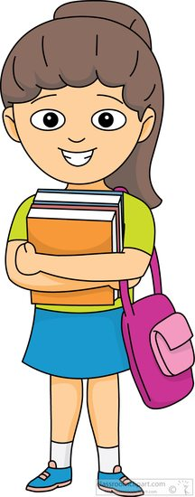 Bag clipart student. Book carries books in