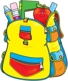 School . Bag clipart student