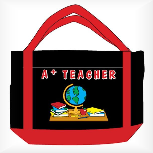 Tote gifts for teachers. Bag clipart teacher