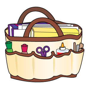 Bag clipart teacher. Made from gardening tote