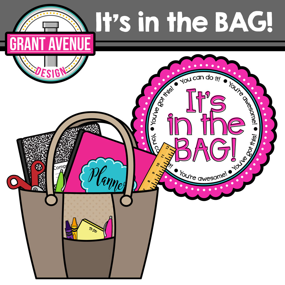Bag clipart teacher. Grant avenue design freebie