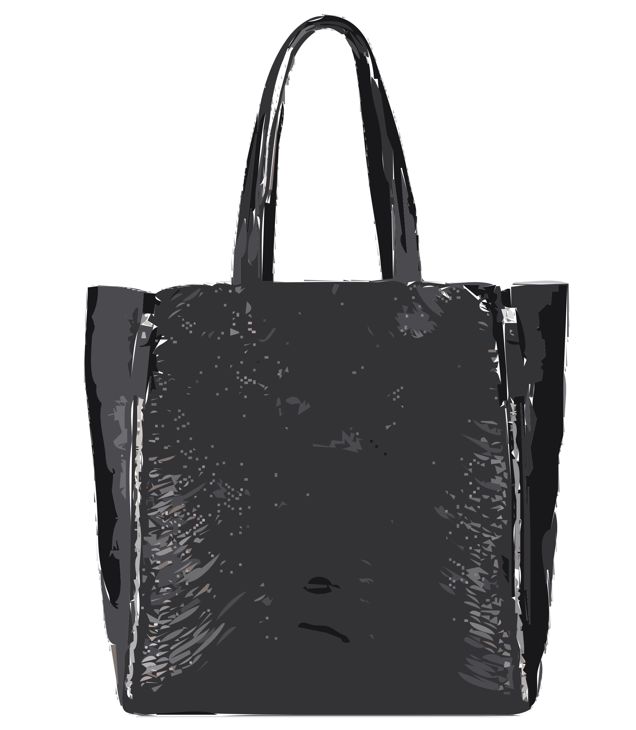 Bag clipart tote bag. Black no logo big
