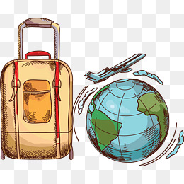 Png vectors psd and. Bag clipart travel