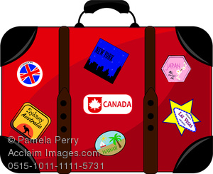 Bag clipart travel. Clip art image of