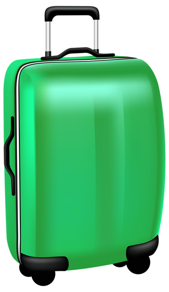 Bag clipart travel. Green trolley png transparent