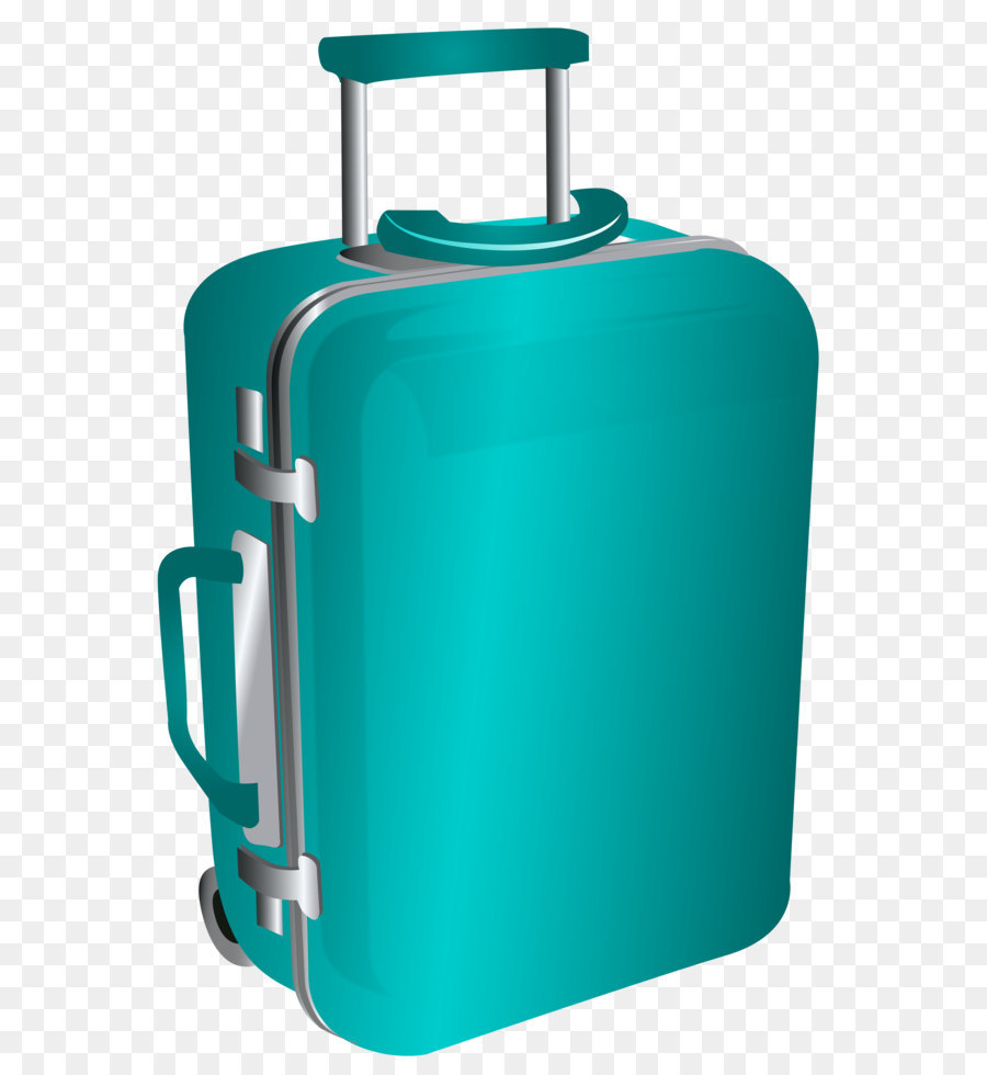 Suitcase Baggage Clip art - Blue Trolley Travel Bag PNG Clipart ...