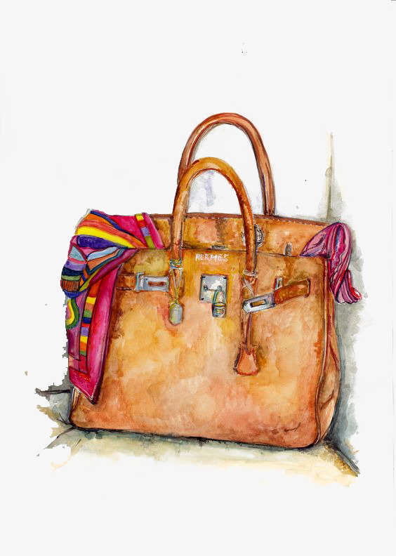 Bag clipart watercolor. Fashion bags illustration png