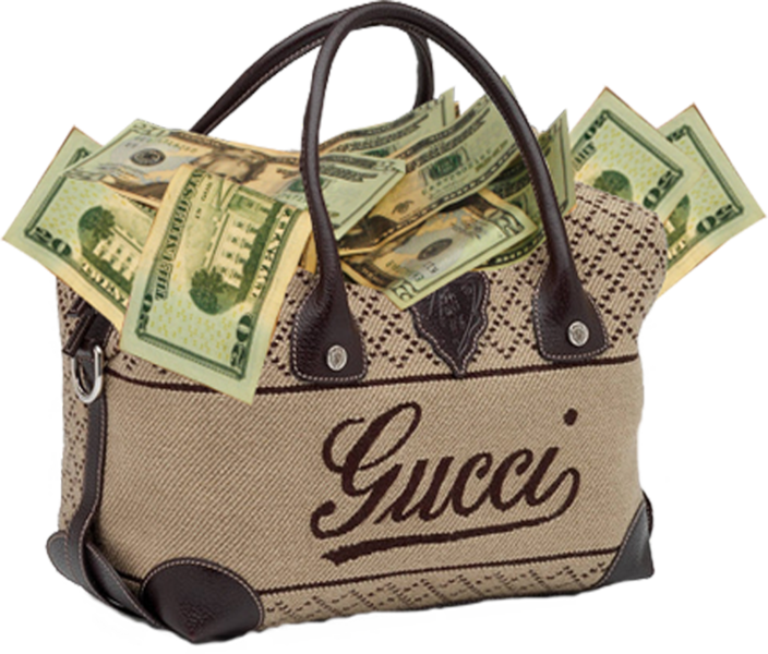 Gucci full psd official. Bag of money png