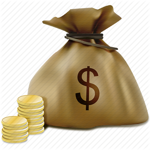 Everything rich man needs. Bag of money png