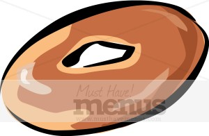 Breakfast. Bagel clipart