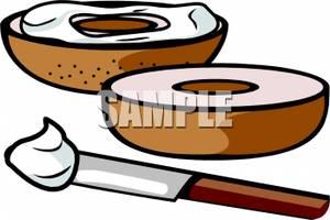 Clip art image a. Bagel clipart