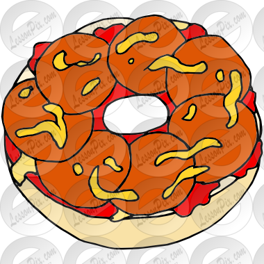 Bagel clipart. Pizza picture for classroom