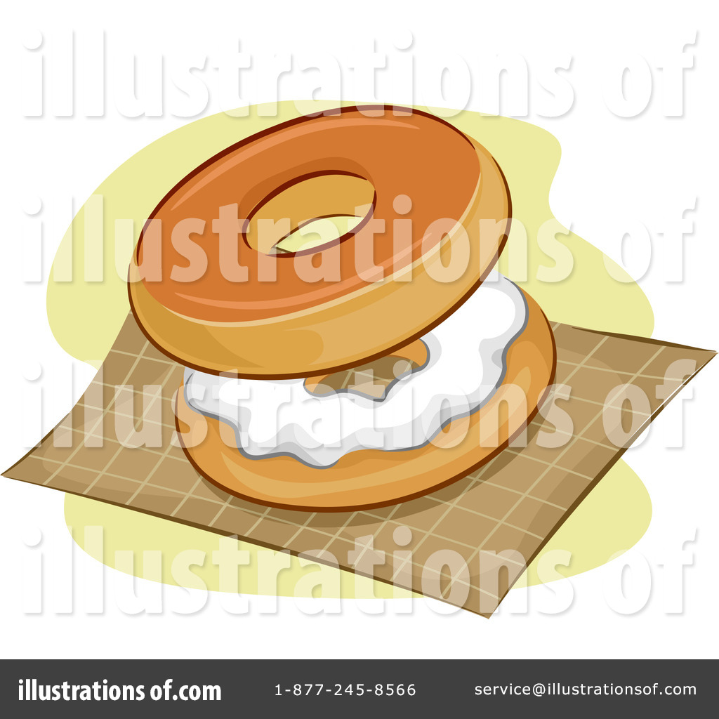 Bagel clipart. Illustration by bnp design