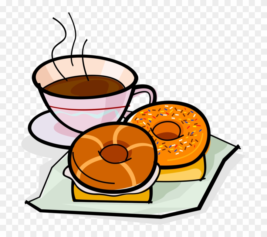 Donut clipart bagel. Picture transparent library drawing