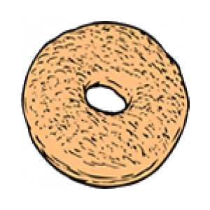 Free cliparts download clip. Bagel clipart