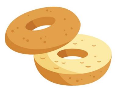 Bagel clipart. Pizza emoji font circle
