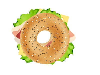 Bagel bagel sandwich