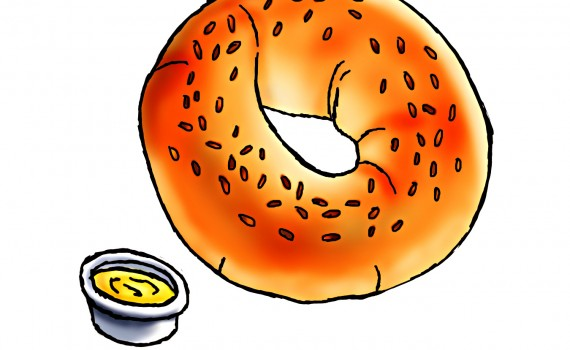 Bagel clipart bagette. Bread free collection download