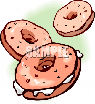 Food picture of bagels. Bagel clipart baked goods