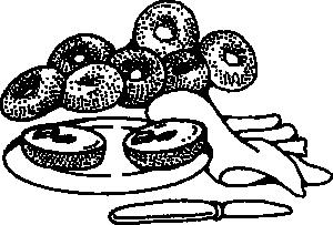 Bakery breakfast bagels clip. Bagel clipart baked goods