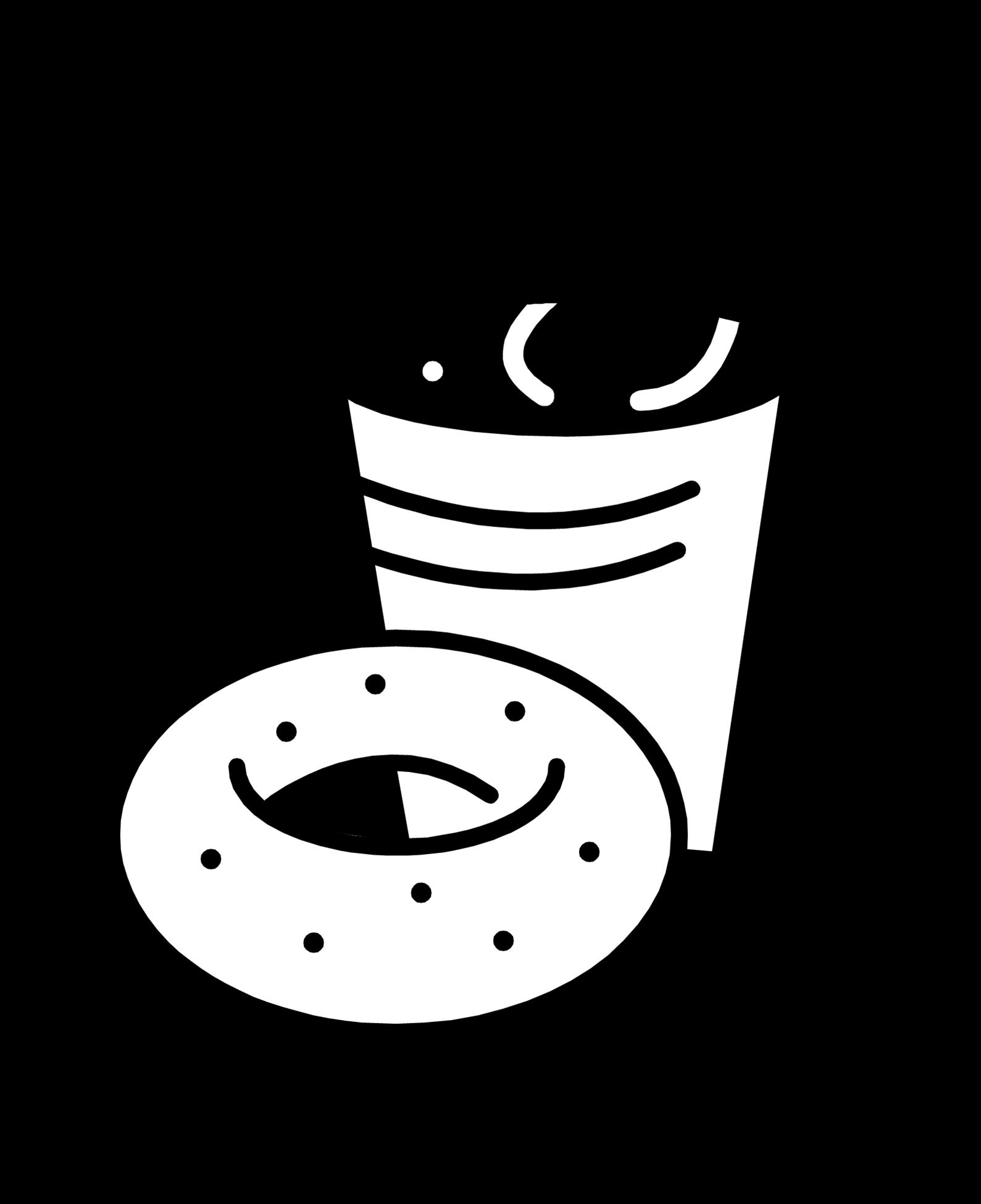 Png royalty free stock. Mug clipart coffee bagel