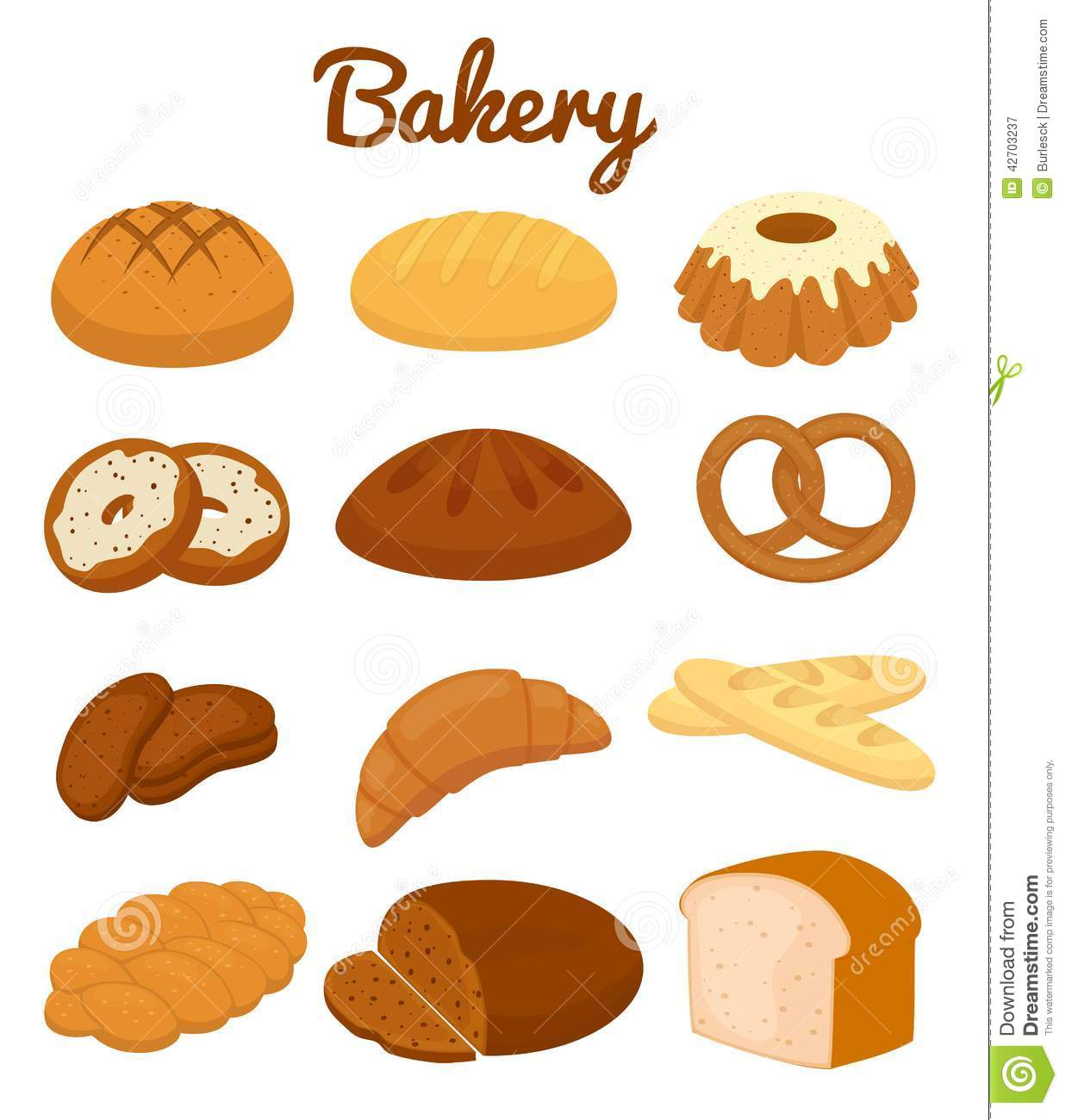 Vector pencil and in. Bagel clipart carbohydrates