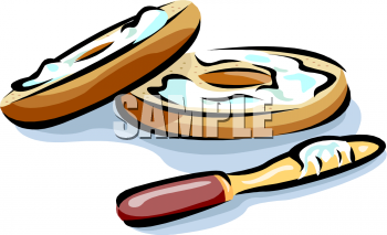 Bagel clipart cartoon. Food picture of a
