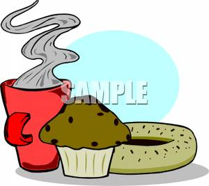 Royalty free image a. Bagel clipart cartoon