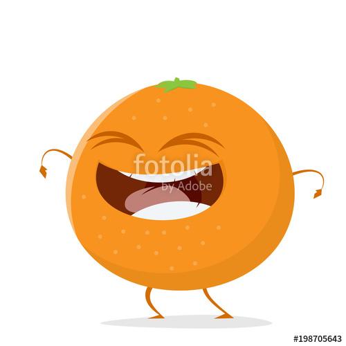 Bagel clipart cartoon. Happy orange fruit stock
