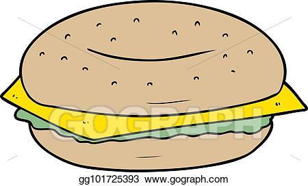Vector stock illustration gg. Bagel clipart cartoon
